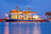 コンテナー貨物貨物船 — ストック写真