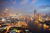 Aerial view of Bangkok Skyline — Stock Photo