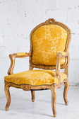 Luxury Yellow Armchair — Stock Photo