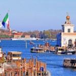 Boat Transportation at Punta della Dogana di Mare — Stock Photo