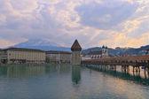 Chapel Bridge in Luzern — Stock Photo