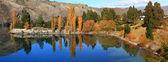 озеро данстан отражение новая зеландия — Стоковое фото