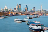 St Paul's Cathedral and River Thames — Foto de Stock