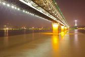 Fiume yangtze ponte wuhan in cina — Foto Stock
