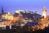 Edinburgh at dusk — Stock Photo