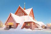 Kiruna cathedral Sweden — Stock Photo