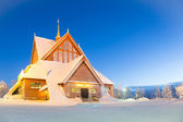 Kiruna cathedral Sweden — Stock Photo