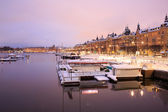 Stockholm Cityscape at dusk — Stock Photo