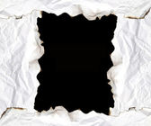 Burnt edge paper with space for text on black background — Stock Photo