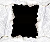 Quemado papel de borde con espacio para el texto sobre fondo negro — Foto de Stock