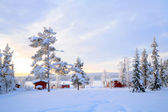 Lapland Winter landscape Sweden — Stock Photo
