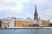 Old Town Stockholm Cityscape — Stock Photo