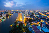 Bangkok at dusk Thailand — Stock Photo