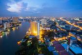 Bangkok at dusk Thailand — Stock Photo