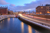 Stockholm Highway dusk — Stock Photo