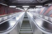 Escalator in futuristic building — Stock Photo