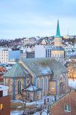 トロムソ大聖堂ノルウェー — ストック写真