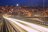 Tromso Bridge to City at dusk — Stock Photo