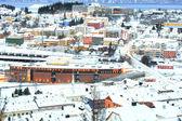 Winter Narvik Cityscape at dusk Norway — Stock Photo
