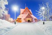 Iglesia de kiruna suecia — Foto de Stock