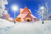 Kiruna church Sweden — Stock Photo