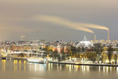 Stockholm Skyline Cityscape at Night — Stock Photo