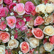 Heap of Fake rose flower — Stock Photo