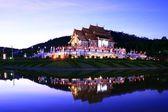 Reflection of Royal Pavilion in dusk — Stock Photo