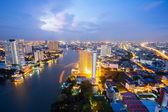 Bangkok Skyline at dusk — Stock Photo