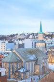 Tromso katedral kilise — Stok fotoğraf