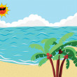 Royalty-Free Stock Vector Image: Summer Beach