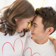 Foto Stock: Couples in love