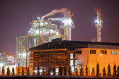 Industry boiler in Oil Refinery Plant at night — Stock Photo