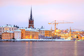 Gamla Stan Old Town Stockholm city at dusk Sweden — Stock Photo