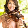 Violinist lady — Stock Photo
