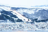 Narvik Cityscape Skiing — Stock Photo