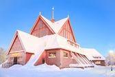 церковь кируны лапландии швеция — Стоковое фото