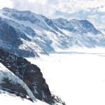 Great Aletsch Glacier Switzerland — Stock Photo