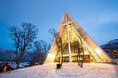 τρόμσο αρκτικό καθεδρικό ναό στη νορβηγία — Φωτογραφία Αρχείου