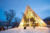 Tromsö arktiska katedralen norge — Stockfoto