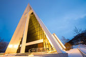 Arctic Cathedral Tromso Norway — Stock Photo