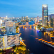 Stock Photo: Bangkok Skyline twilight