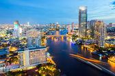 Bangkok Skyline twilight — Stock Photo