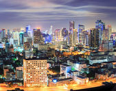 Bangkok downtown Skyline at night — Stock Photo