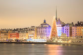 Stockholm at Night — Stock Photo