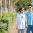 Couples walking together — Stock Photo