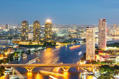 Bangkok Skyline downtown — Stock Photo
