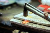 Goldsmith working — Stock Photo