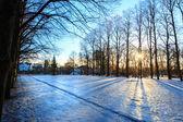 Vigeland park winter Oslo Norway — Stock Photo