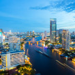 Bangkok Skyline at dusk — Stock Photo